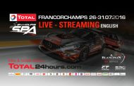 Live Stream: The Total 24 Hours of Spa 2016